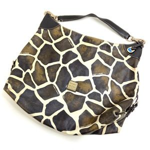 Dooney & Bourke | Large Hobo Bag Giraffe Brown